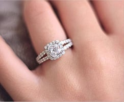 Brand New Princess Cushion Cut Ring 2.0 Carat Cubic Zirconia Promise Engagement Ring