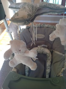 Portable Baby Bassinet with Swing and Play set.