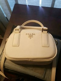 White Prada Leather 2-Way Handbag Scarborough, M1E