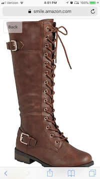 unpaired brown leather knee-high boot Los Angeles, 90291