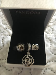 Pandora Charms set of 3 for $130