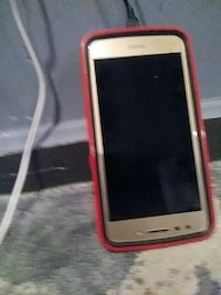white android smartphone with red case Niles, 44446