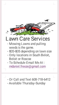 Lawn mowing South Beloit