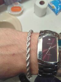 Real silver rope bracelet  Chicopee, 01020