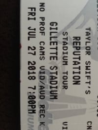 Taylor Swift Reputation Tour Concert Tickets Johnston, 02919
