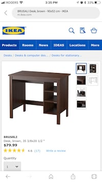Brusali IKEA brown desk Mississauga, L5B 4M1