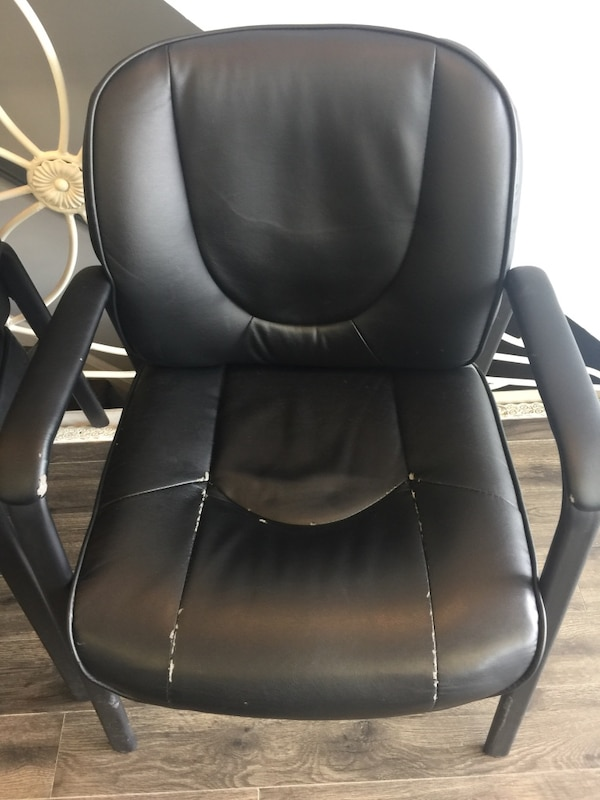 4 black chairs $50 for all 1