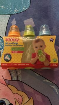 Brand new! Nuby Non-Drip Standard Neck Bottles pack 黑弗里尔, 01830