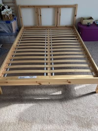 IKEA - Full bed frame with slatted Reston, 20190