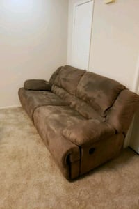 brown suede 2-seat/reclining sofa 2254 mi