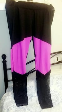 black and purple pants