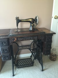 brown wooden sewing machine table Crofton, 21114