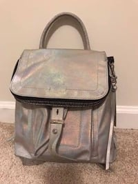 Botkier silver metallic leather backpack with dust bag Fairfax, 22031