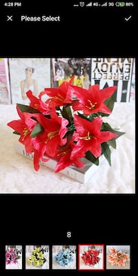 10 Heads Artificial Lily Flower Bouquet Fake Flowe Singapore, 530707