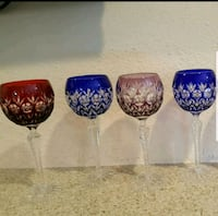 set of 6 glasses czech bohemian crystal glasses Thousand Oaks, 91360