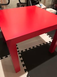Ikea red table  Sherwood Park, T8H 0K4