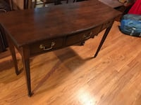 brown wooden single-drawer table