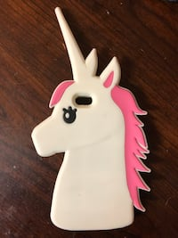 White and pink unicorn iphone case