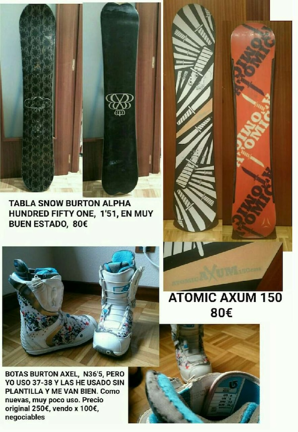 MATERIAL SNOW SNOWBOARD CHICO Y CHICA