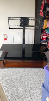 black glass TV stand with mount Lewis Center, 43035