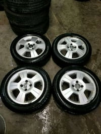 Ford focus/fiesta rims and winter tires  Toronto, M6L 1A4