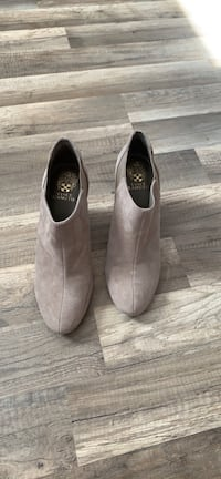 Vince Camuto Taupe Suede Ankle Booties