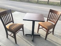 Table with 2 chairs. Excellent condition will sell separately   3156 km