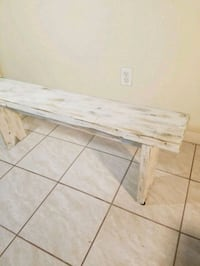 Wooden Distressed Bench Houston, 77040