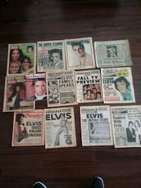 Old Elvis newspapers from his death and other maga Los Angeles, 91344