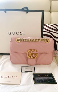 Gucci Pinky leather GG Marmont Purse, New