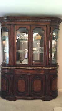 brown wooden china cabinet Houston, 77043