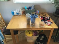 Maple wood kitchen table with 4 chairs Edmonton, T6M 2V4
