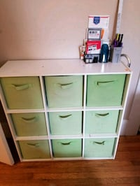 white and green wooden cube organizer San Francisco, 94122