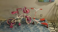 toddler's white and pink bicycle with training wheels Chicago, 60615