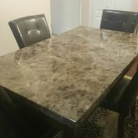 rectangular brown wooden table with 4 chairs  Abbotsford, V2T 4H4