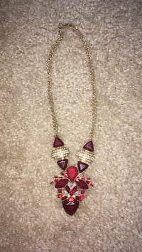 ruby studded pendant