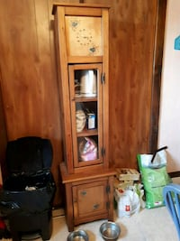 brown wooden framed glass display cabinet Kingsville, N0R 1B0