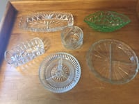 Assorted 1950/60s Antique Clear Glassware - Vintage 1950 and 1960s  Aurora, L4G 3K4