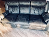 Faux Brown Leather couches (2) with recliners  Seattle, 98103