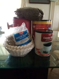 11.3oz coffee,filters and 7lbs of dog food.
