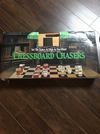 Chessboard with Shot glasses