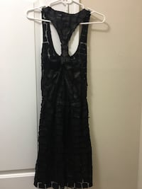 Black dress with leather details Los Angeles, 90094