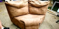 4 Piece suede sectional - power recliner  Sterling Heights, 48313