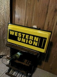 Duel sided western union light made to hang up lig Georgetown, 40324
