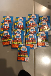 1990 fleer factory sealed baseball card packs straight frombox 3for$1 Beltsville, 20705