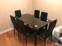 Brand new 7pc tempered glass dining set warehouse sale  多伦多, M1W
