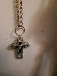 silver-colored cross pendant Burnaby, V3N 1A8