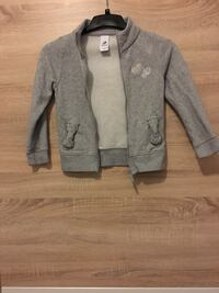 graue Zip-Up-Jacke
