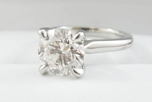 *Christmas Special* 1.71ct J SI2 Round Brilliant in 18k White Gold Solitaire Ring