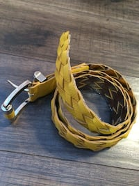 Mustard yellow leather belt Edmonton, T6K 1J6